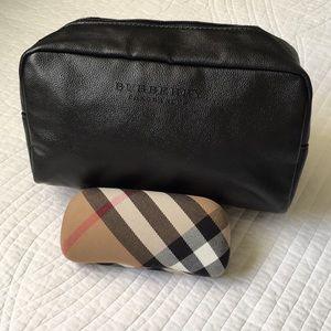 Burberry Cosmetics Travel Toiletry Bag Black Large